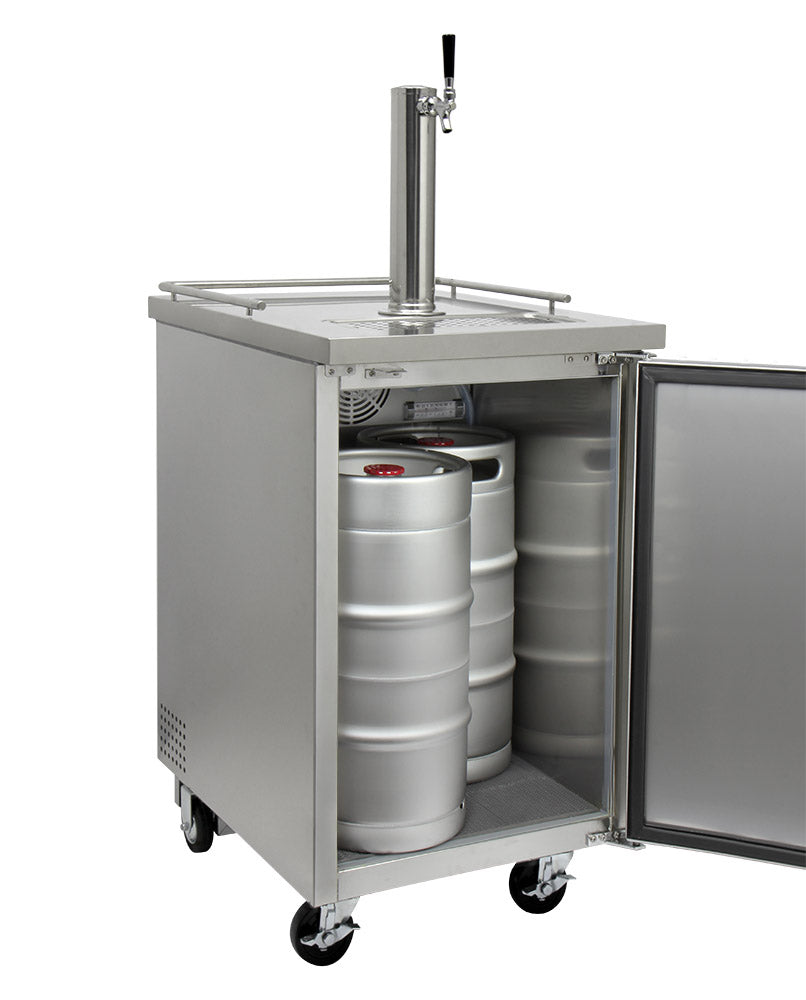"Kegco 24"" Wide Kombucha Single Tap All Stainless Steel Commercial Kegerator - KOMC1S-1"