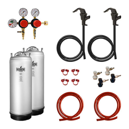 Kegerator.com Homebrew Conversion Kit - HBK2P-MS - Wine Cooler City
