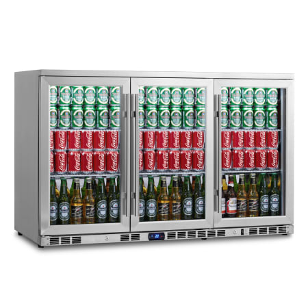 KingsBottle 53 inch Wide 260 Can Capacity Beverage Center - KBU-328C-SS - Wine Cooler City