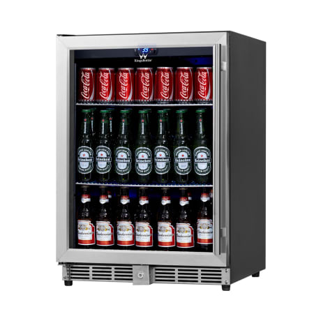 KingsBottle 24 inch Wide 160 Can Capacity Beverage Center - KBU-50B-SS - Wine Cooler City