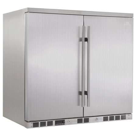 KingsBottle 36 inch Wide 169 Can Capacity Beverage Center with Solid Doors - KBU-56A-SD - Wine Cooler City