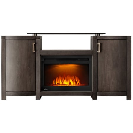 Napoleon Whitney 60 Inch Wide Media Console with 5000 BTU Electric Fireplace from the Cinema Collection - NEFP24-0516GRW - Wine Cooler City