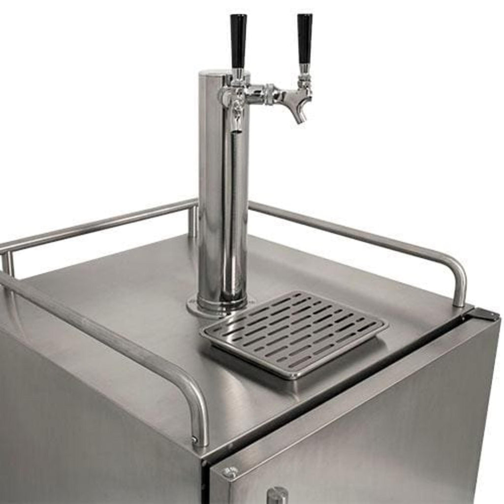 EdgeStar Full Size Dual Tap Built-In Outdoor Kegerator - KC7000SSODTWIN - Wine Cooler City