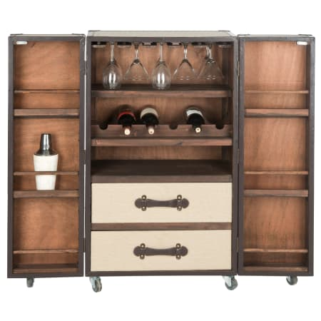 Safavieh Grayson 23.6 Inch Wide Engineered Wood Wine Cabinet - FOX9511A - Wine Cooler City