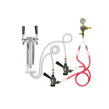 TapRite Kegerator Tower Conversion Kit for Dual Tap Configuration - DK30CPSS02 - Wine Cooler City