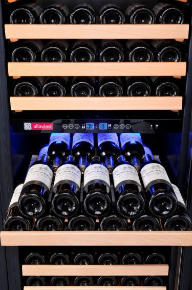 Allavino Classico Series 172 Bottle Dual-Zone Wine Cooler with Right Hinge Black Door YHWR172-2BWRN - Wine Cooler City