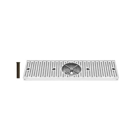 UBC 24 Inch Stainless Surface Mount Drip Tray with Rinser - DTU24SSR - Wine Cooler City
