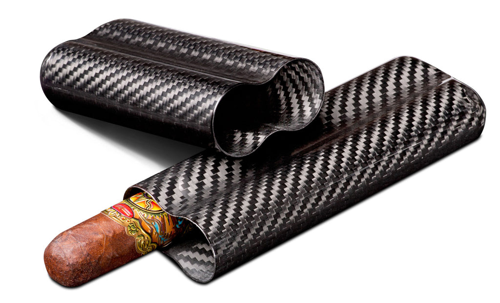 Visol Night Carbon Fiber 2 FingerCigar Case - Wine Cooler City