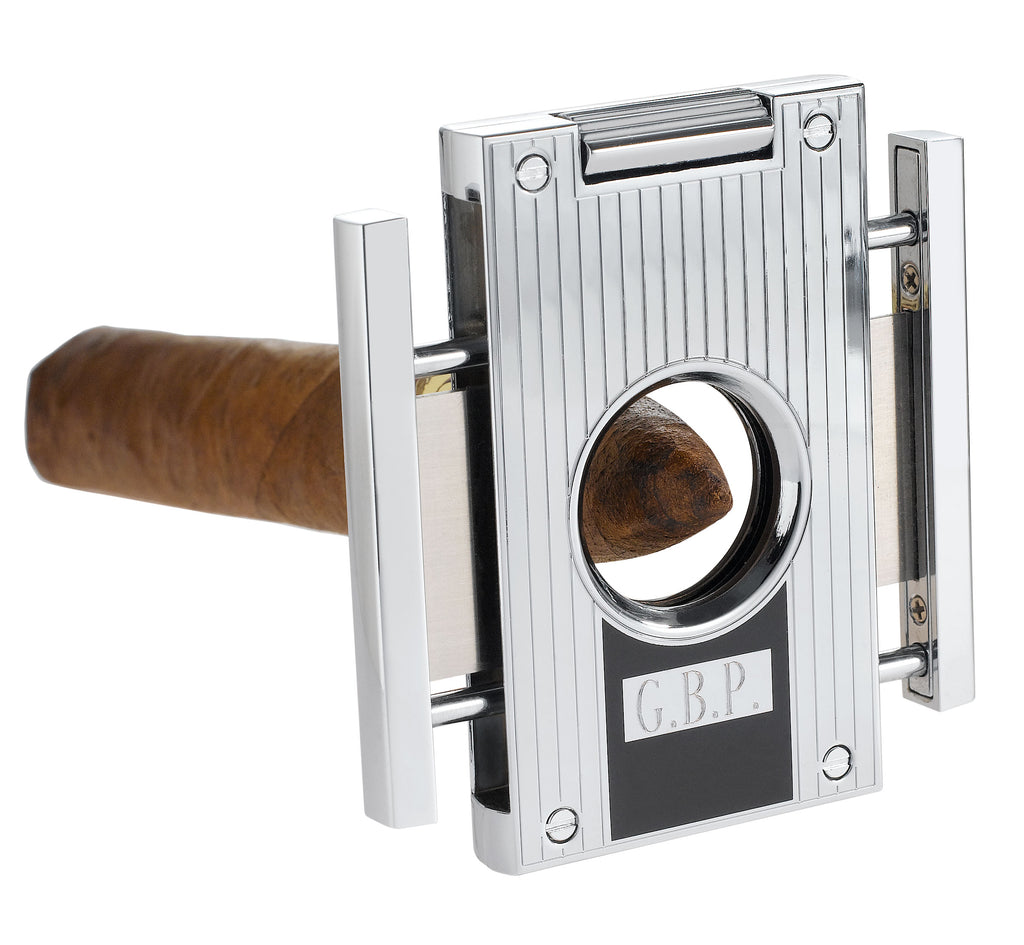 Visol Sharp Lines Chrome Cigar Cutter - Wine Cooler City