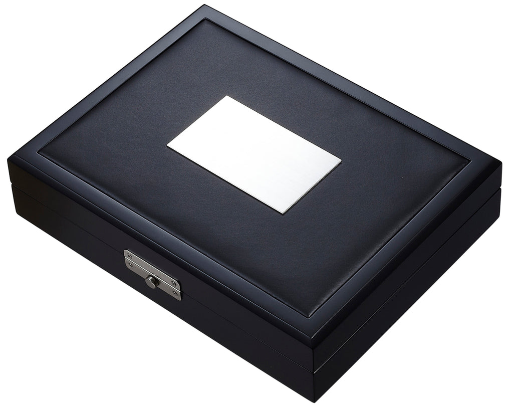 Visol Drako Black Travel Cigar Humidor - Holds 19 Cigars