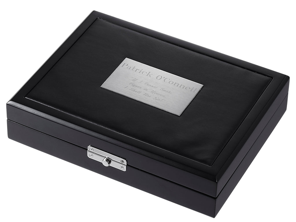 Visol Drako Black Travel Cigar Humidor - Holds 19 Cigars - Wine Cooler City