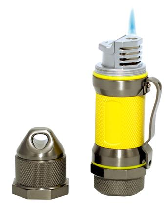 Visol Storm Gunmetal / Yellow High Altitude Windproof Lighter - Wine Cooler City