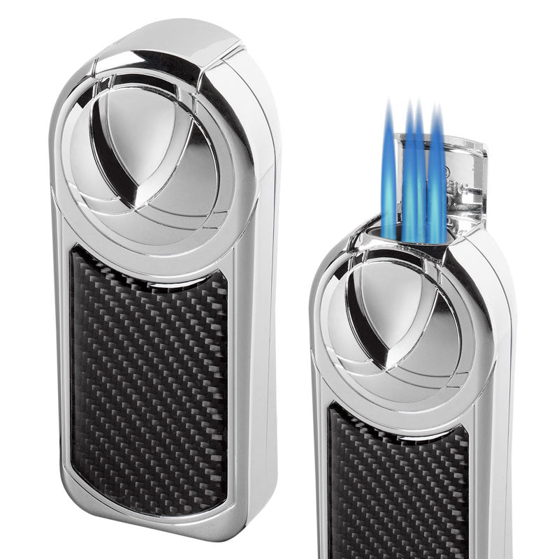 Visol Dobrev V 5 Torch Flame Carbon Fiber Table Lighter