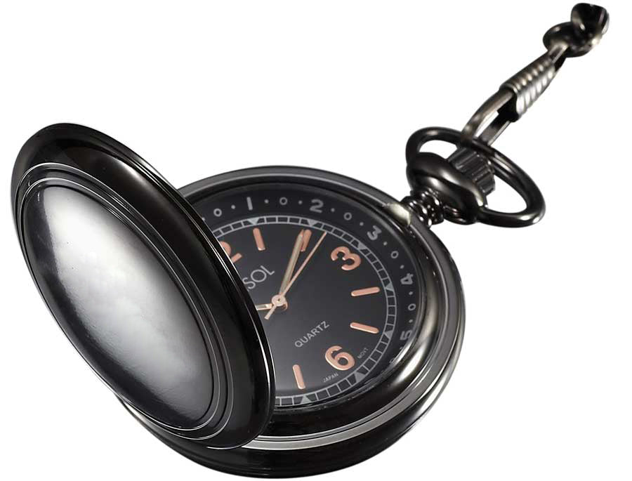 Visol Diesel Gun Metal Pocket Watch - Wine Cooler City
