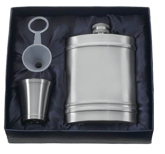 Visol Arlington Pewter Hip Flask Gift Set