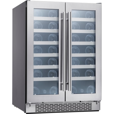 Zephyr Presrv™ 24 Inch Wide 42 Bottle Capacity Built-In or Free Standing Wine Cooler with Active Cooling and PreciseTemp - PRW24C32BG - Wine Cooler City