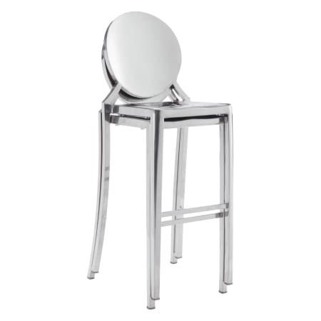 "Zuo Modern Eclipse 19"" Wide Stainless Steel Armless Bar Stools with High Polish - (Set of 2) - 100552 - Wine Cooler City"