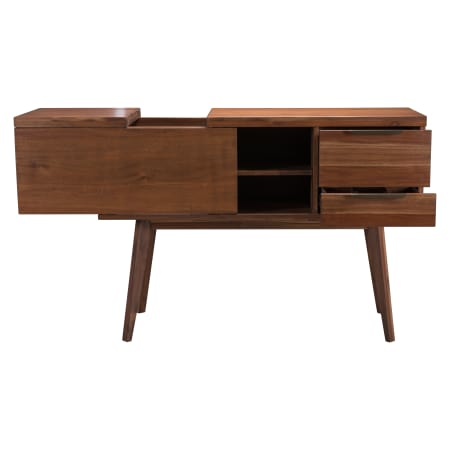 "Zuo Modern Cooper Whiskey 50"" Long Wooden Bar/Wine Cabinet with Sliding Surface Panel and Drawers -100786 - Wine Cooler City"
