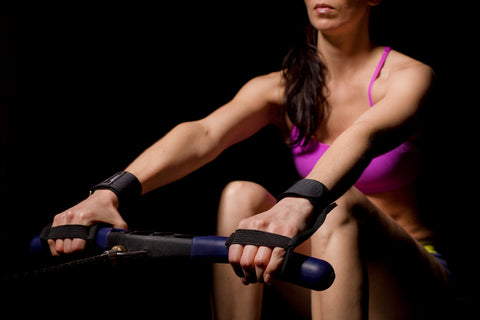 NewGrip Rowing Gloves on an Erg Concept2 machine