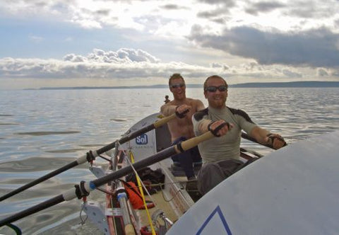 NewGrip Rowing Gloves in Action on the Open Ocean