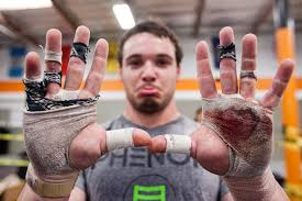 CrossFit Bloody Hands