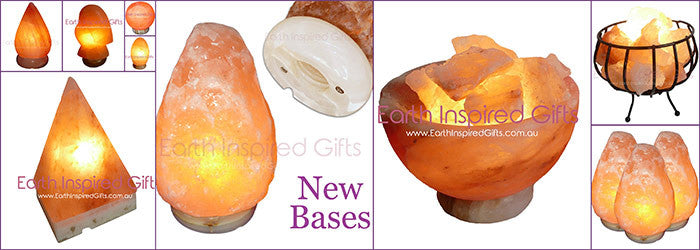 carved shaped salt lamps