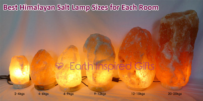 What Size Himalayan Salt Lamp for Each Room Size