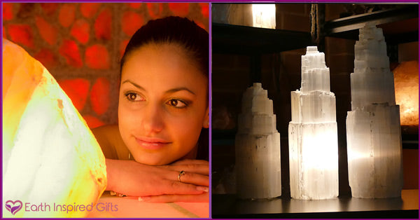 best crystal lamps salt or selenite