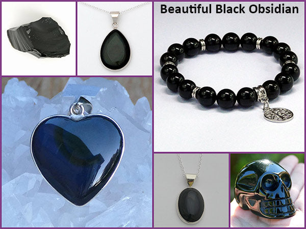 black obsidian crystals for protection