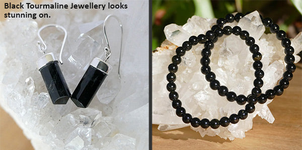 black tourmaline benefits with jewellery