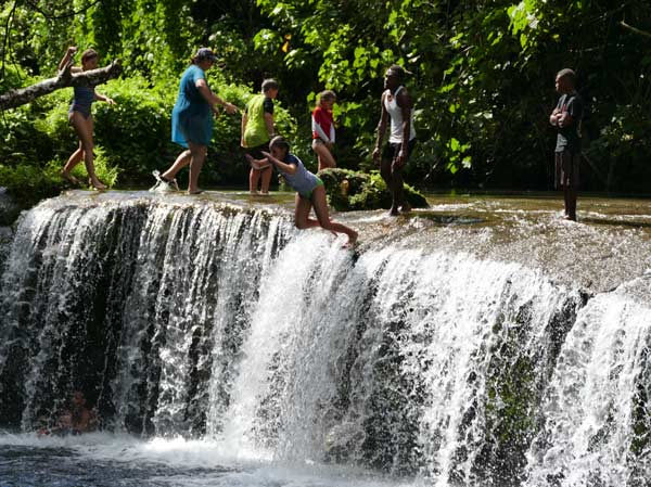negative ions waterfalls nature jump vanuatu