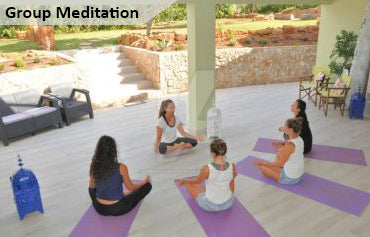 meditation group outdoors