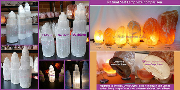 himalayan salt lamps vs selenite tower lamps