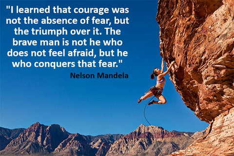 nelson mandela quote on courage inspiration
