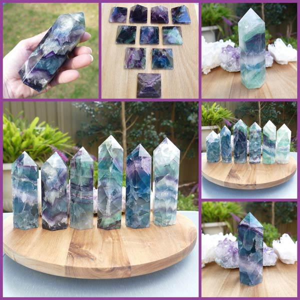 fluorite points for ladies crystals