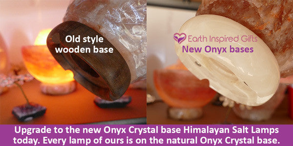 Himalayan salt lamp onyx base review