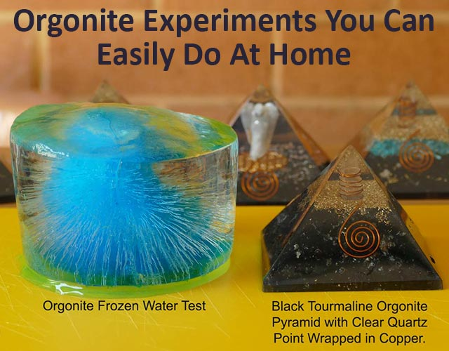 Orgonite experiments and tests on orgonte generators