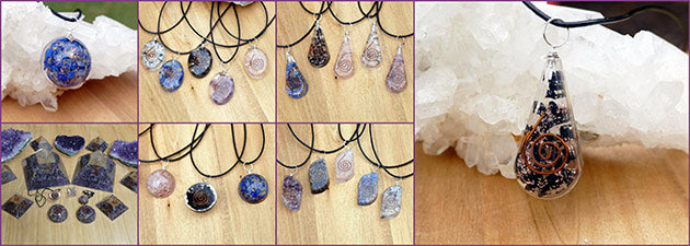 orgone jewellery pendants necklaces