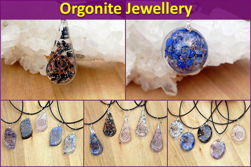 orgonite jewellery pendants necklaces