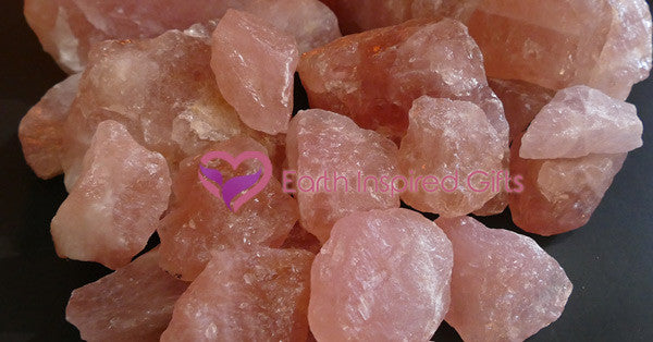 rose quartz crystal chunks natural