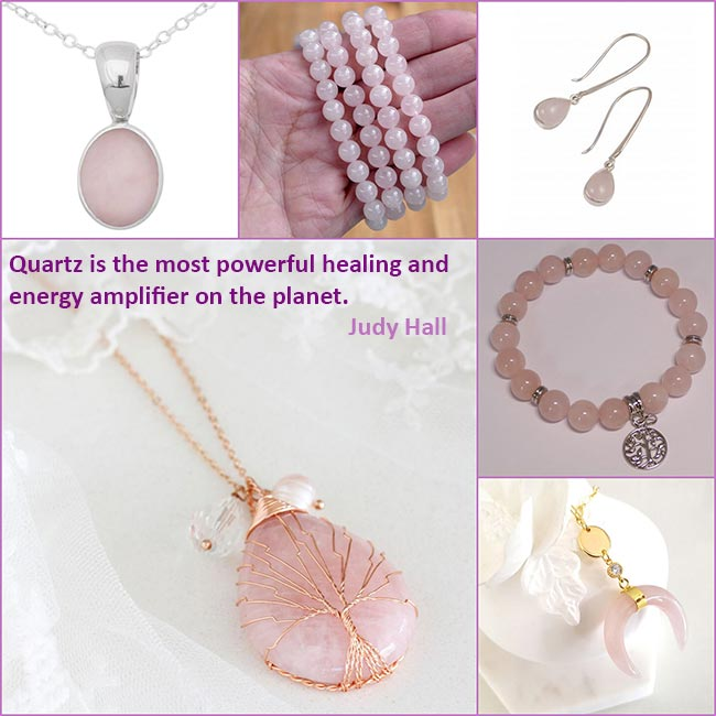 rose quartz jewellery quote energy love