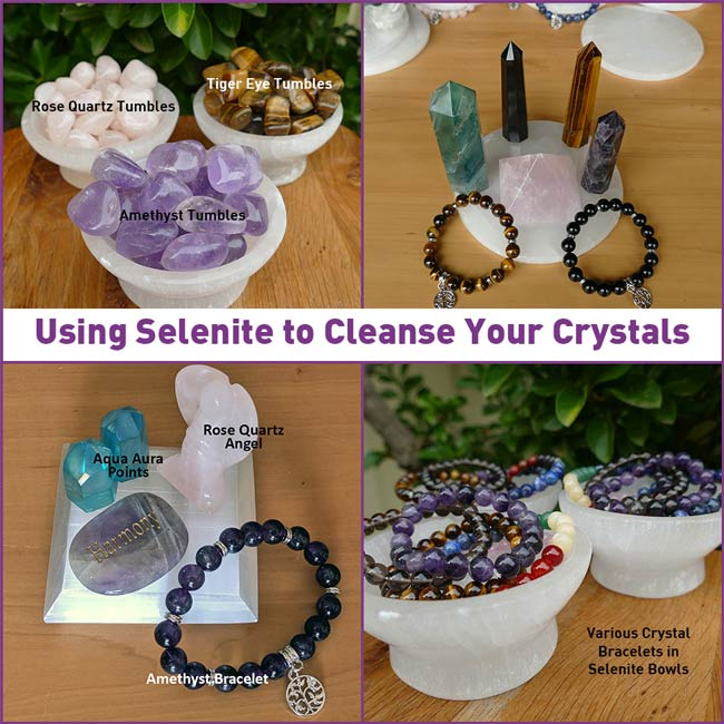 selenite cleansing plates to cleanse crystals