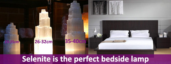 selenite tower lamps bedroom