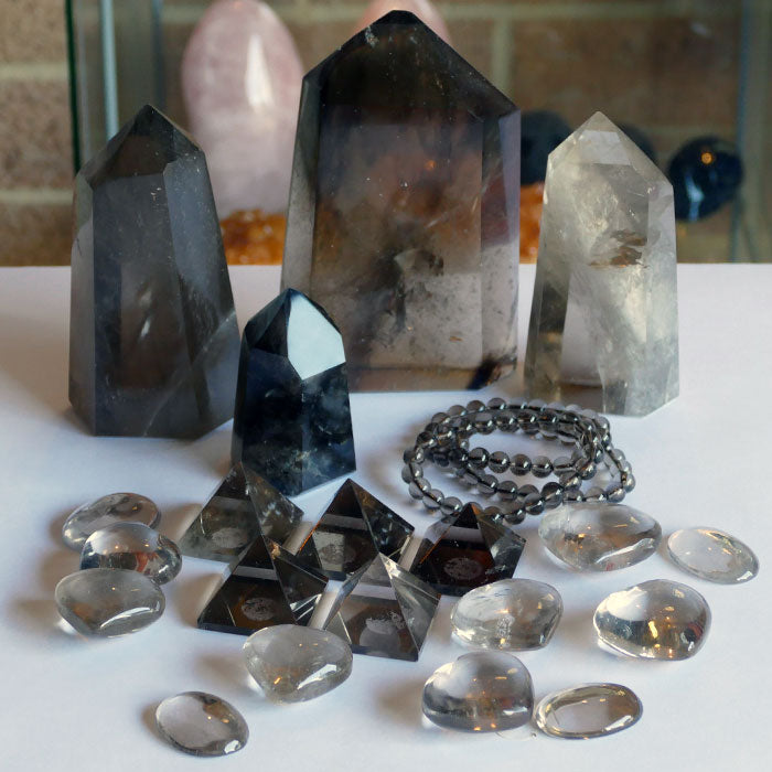 smoky quartz crystal collection