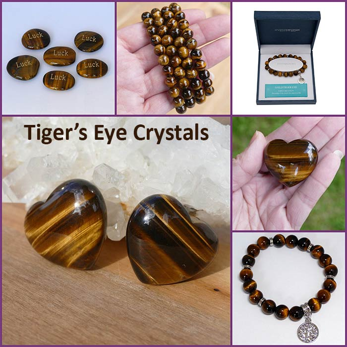 Tigers eye crystals collection