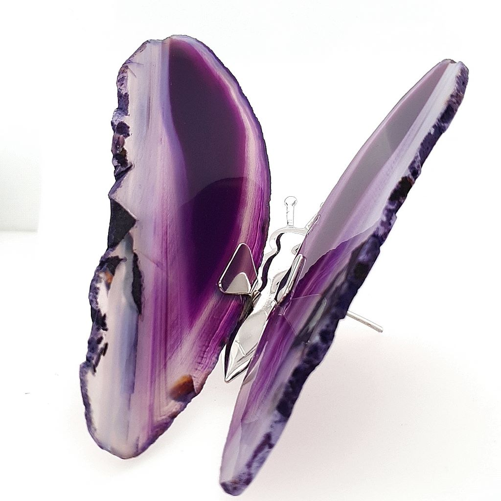 Agate Butterfly Gifts Purple Agate - No.1