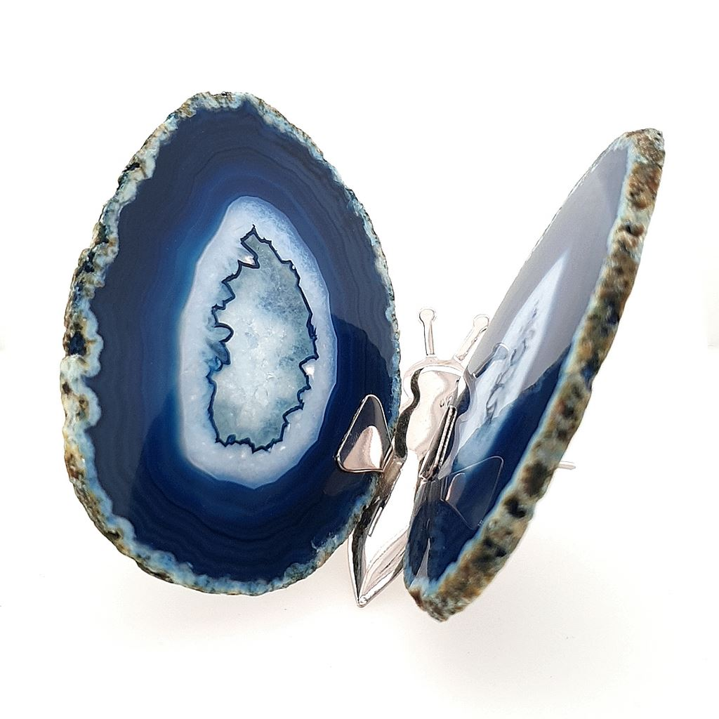 Agate Butterfly Blue Agate - No.2