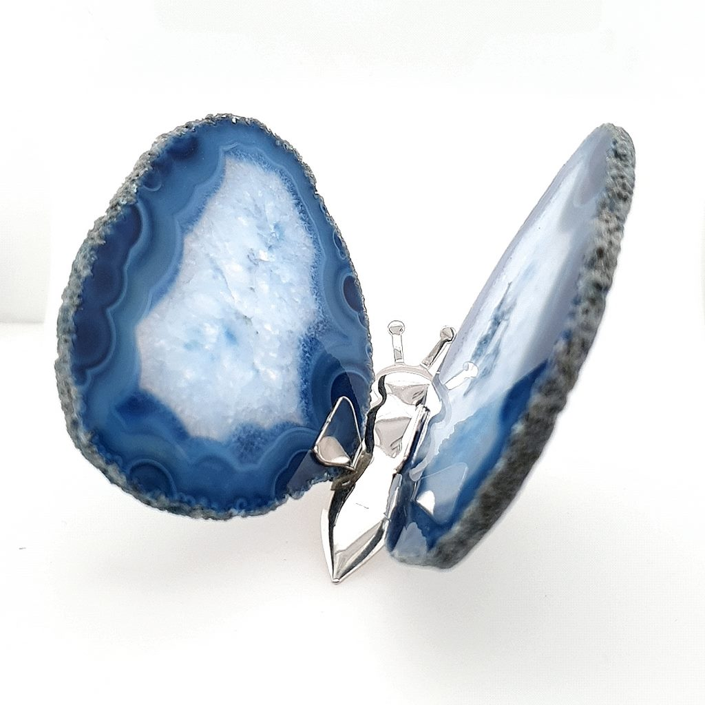 Blue Agate Butterfly - No.3