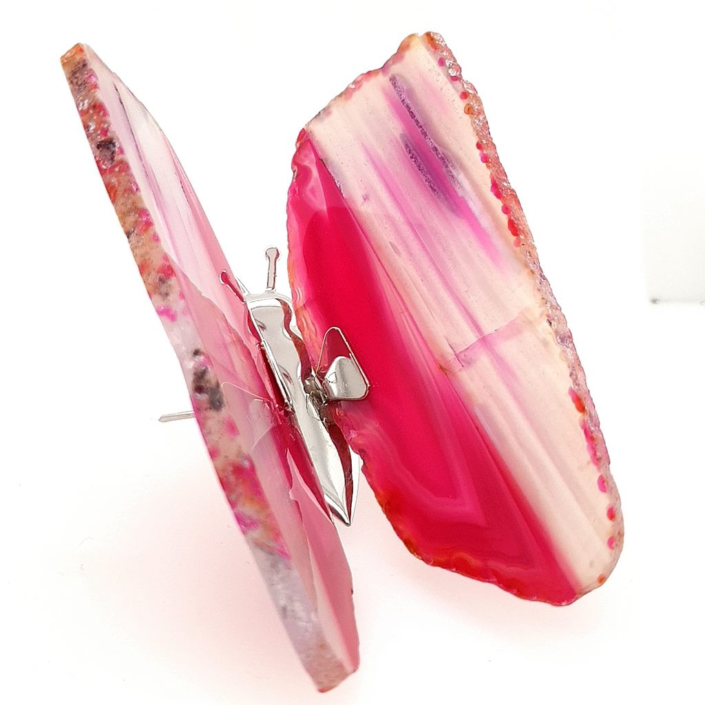 Agate Butterfly Pink Agate Slice - No.2
