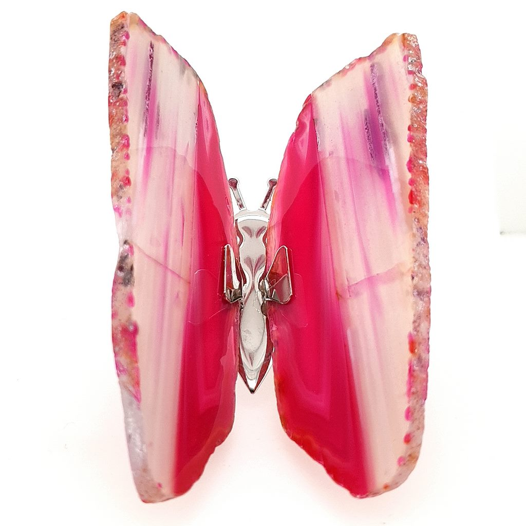 pink agate butterfly